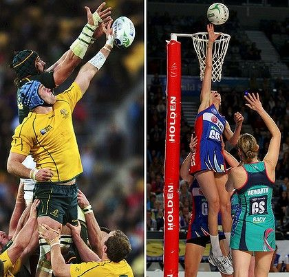 can't wait to try this - 'line-out' lift in Netball