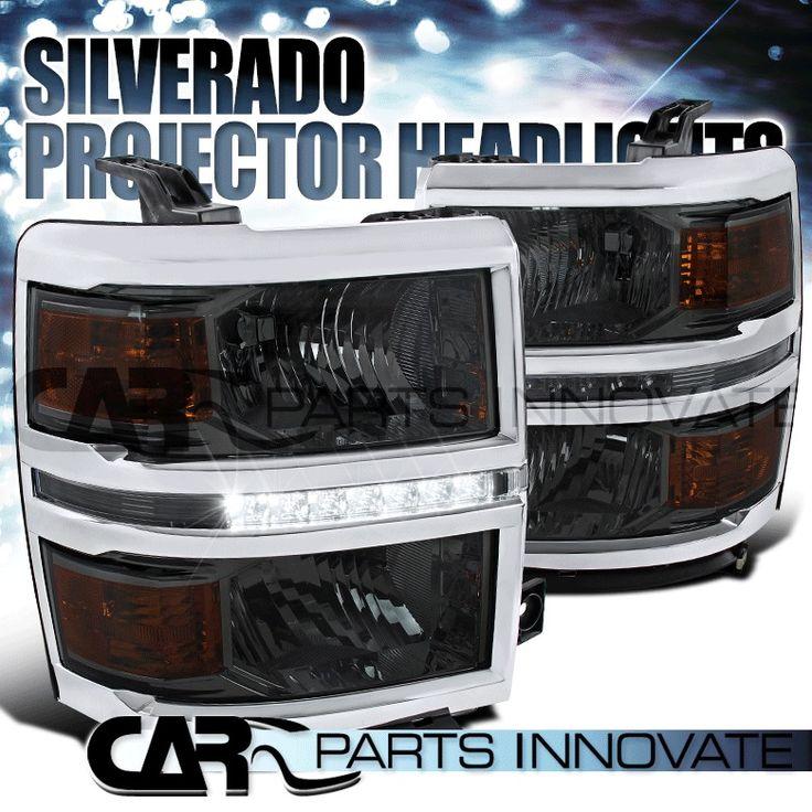 2014-2015 Chevy Silverado 1500 Smoke LED DRL Strip Headlights Head Lamps | eBay Motors, Parts & Accessories, Car & Truck Parts | eBay!