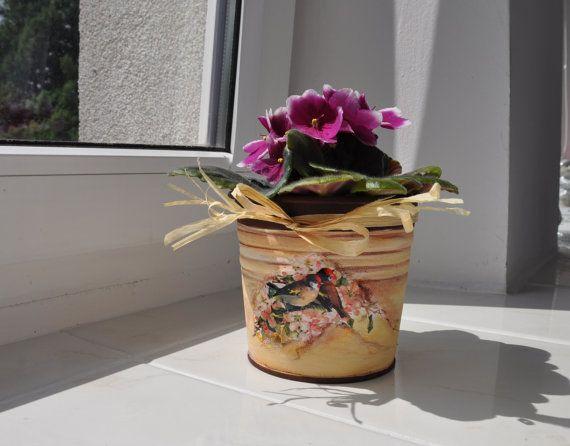 Cache-pot floral pot de fleur planteur récipient par AgaArtFactory