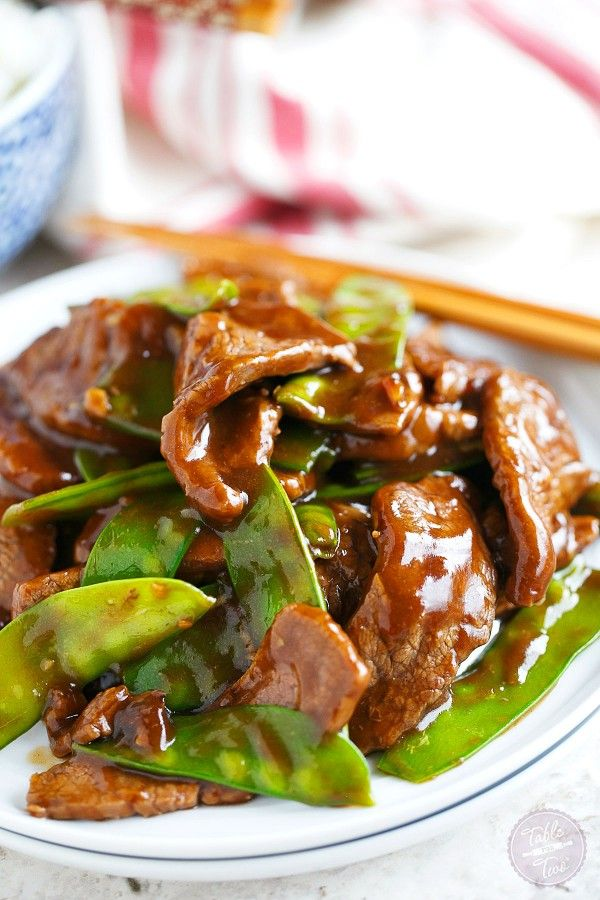 Short on time? This 25-minute beef and snow pea stir fry is the perfect weeknight dinner option!