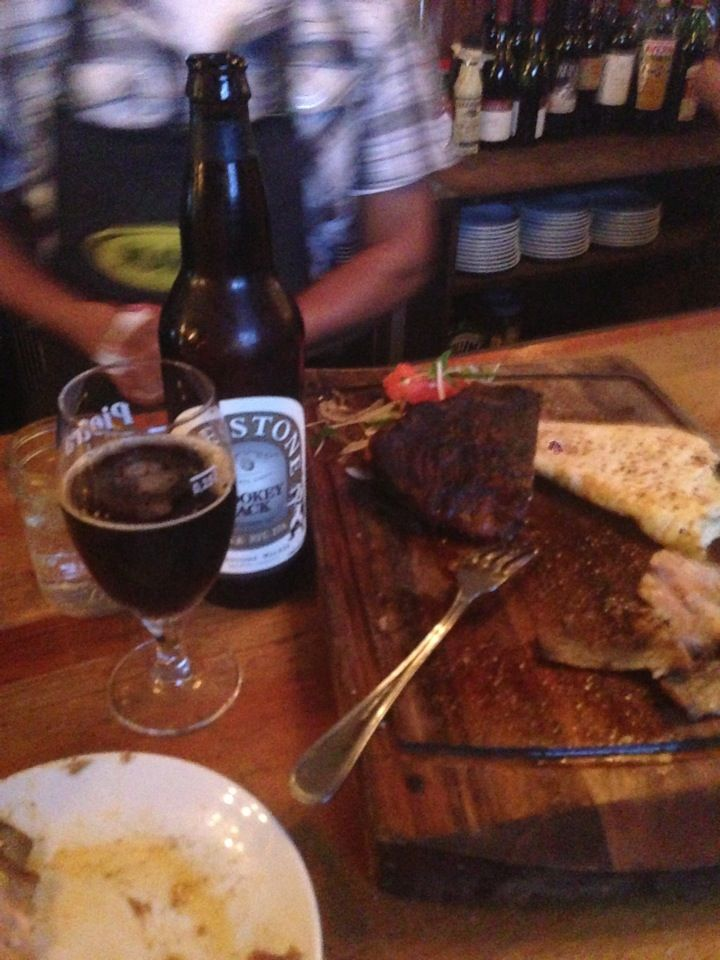 Artisanal meants? Check. Craft beers on tap? Check. Manliest man food around? Check Check.