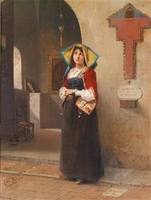 Domenico Induno - Scena di devozione 1865
