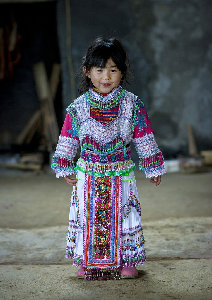 Hmong Girl In Traditional Dress, Sapa, Vietnam   •     This is her only gift for Tet.