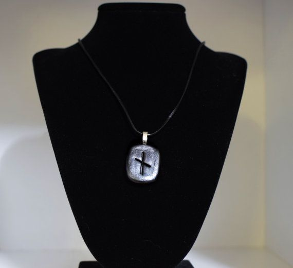 Ogham necklace Vine talisman pendent by DruidBoyDesigns on Etsy