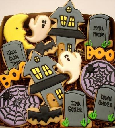 halloween by flour box bakery - Halloween Cookies Decorating Ideas