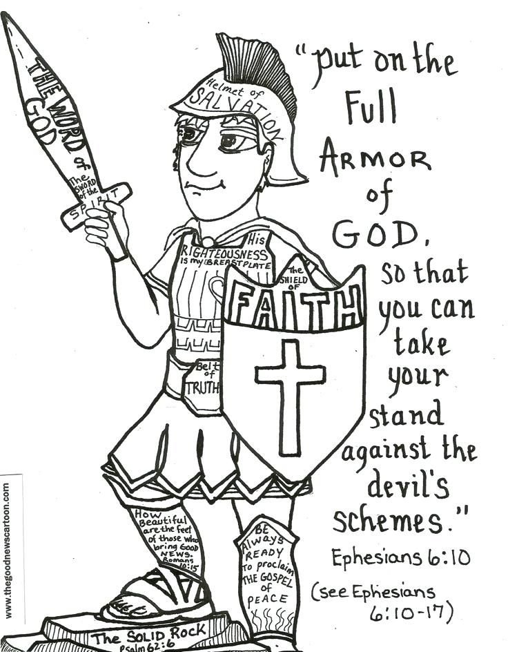Armor Of God For Kids Coloring Pages Armor Of God Activity