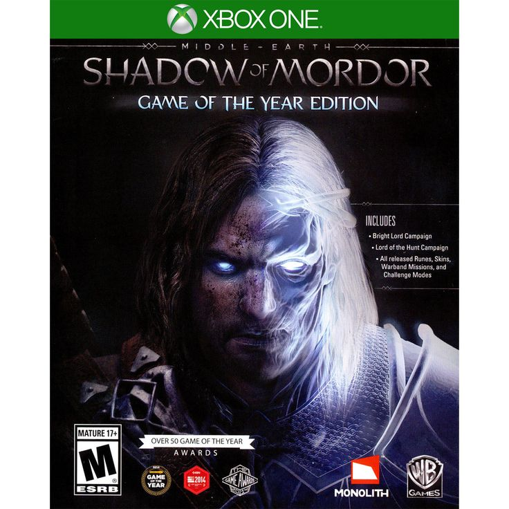 Middle-Earth: Shadow of Mordor  Game of the Year Edition Xbox One [Brand New]