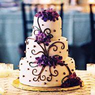 Love the swirls: Cakes Ideas, Someday, Stuff, Dreams, Weddings, Purple Flowers, Wedding Ideas Purple, Black Wedding Cakes, Purple Wedding Cakes