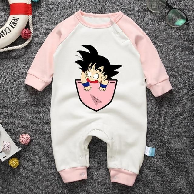 f3af95fc4 Spring 100%Cotton Baby Boys Girls Clothes Dragon Ball Babies Rompers ...