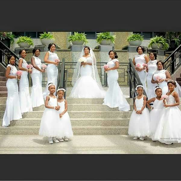 All White Wedding: All White Entourage