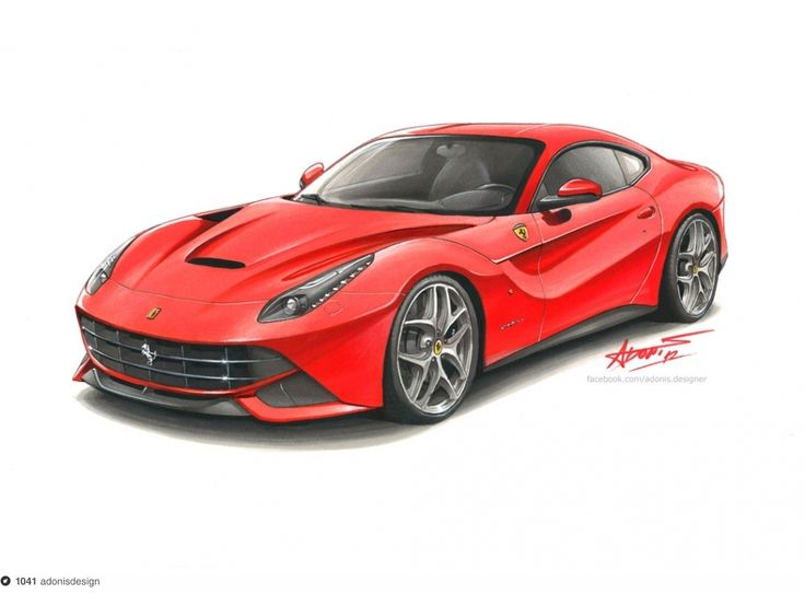 Ferrari F12 Berlinetta Drawing On Dropula The