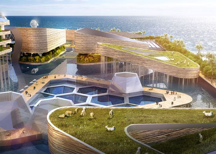 Floating City concept by AT Design Office features underwater roads