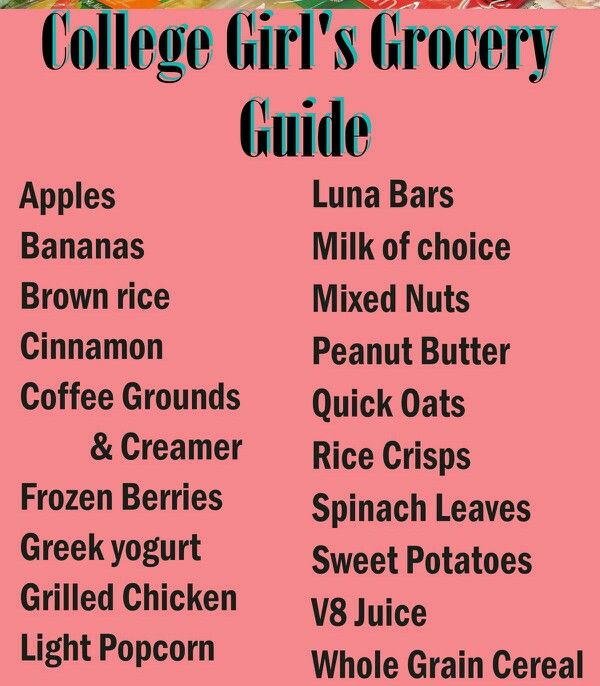 College Girl's Grocery Guide. I'll definitely be using this very soon!