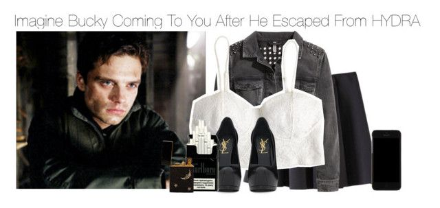 """""""Imagine Bucky Coming To You After He Escaped From HYDRA"""" by xdr-bieberx ❤ liked on Polyvore featuring Sebastian Professional, Chicnova Fashion, H&M, Yves Saint Laurent, Dolce&Gabbana and kitchen"""
