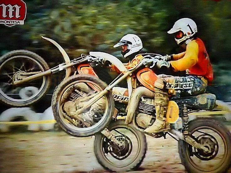 W Montesa! Reminds me of our little drag races in the open lot in Cochrane. Loads of fun till the RCMP arrived. I would wheelie my YZ400 the whole way and scare the whipper snappers.