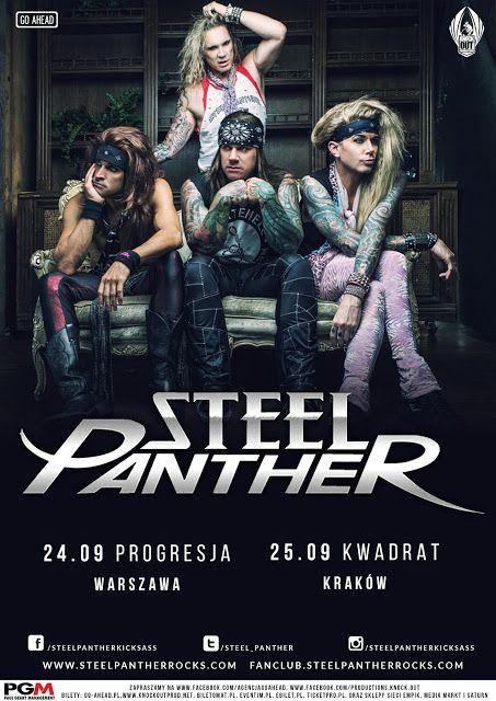 Relacja z koncertu Steel Panther w Krakowie ->