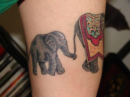 Indian Elephants in Train   Tattoo me   Pinterest