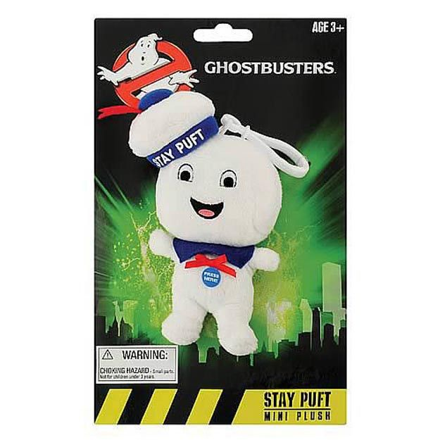 """Ghostbusters 4"""" Talking Plush Stay Puft Marshmallow Man: Happy Face"""