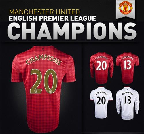 Manchester United 2012/2013 Champions Gear from World Soccer Shop