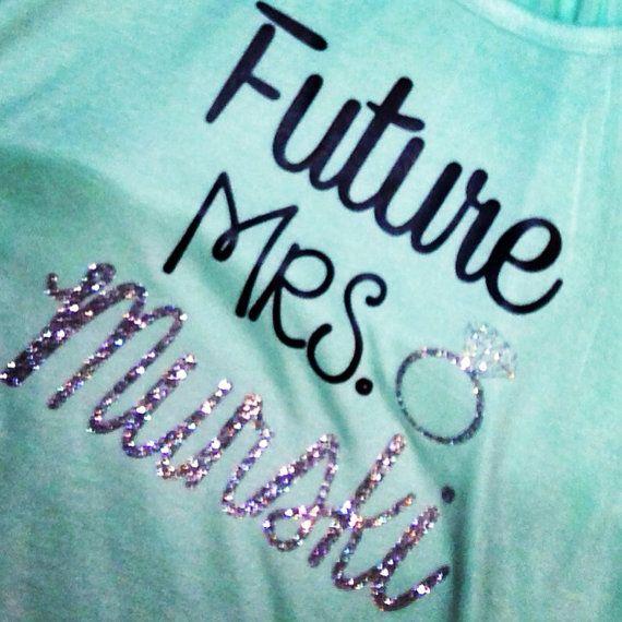 Future Mrs. Glitter Tank by SweetGeorgiaDesigns on Etsy, $28.00