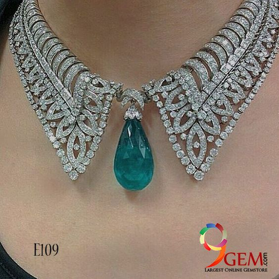 Beautiful and antique designs of emerald gemstone jewelry with diamonds