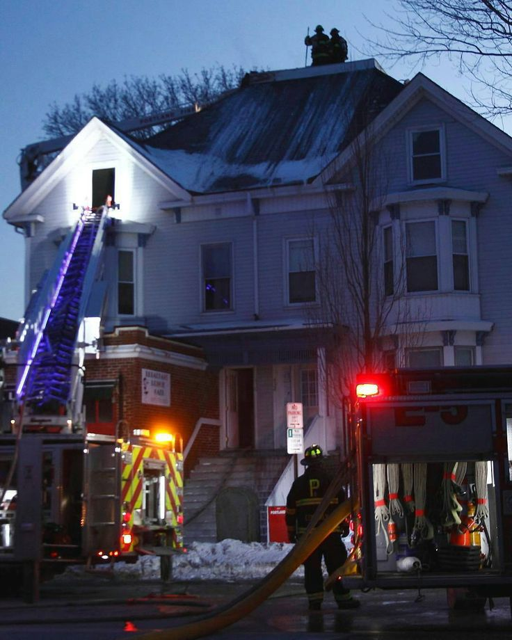 FEATURED POST @engine3photo   2016 Feb 14 Portland ME Members Of Portland  Fire Man The Roof As They Near The End Of An Active Attic Fire Valentineu0027s  Day On ...