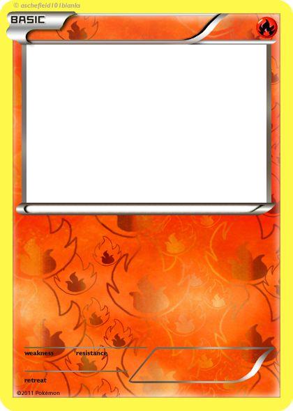 Blank Pokemon Card Template Best photos of pokemon trading card template - blank pokemon ...
