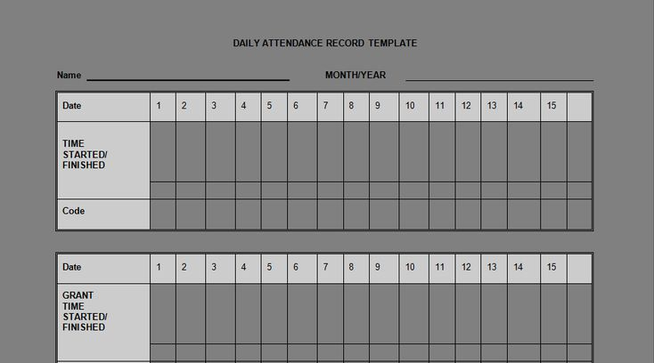 Download Daily Staff Attendance Record Templates Projectemplates - monthly attendance sheet template excel