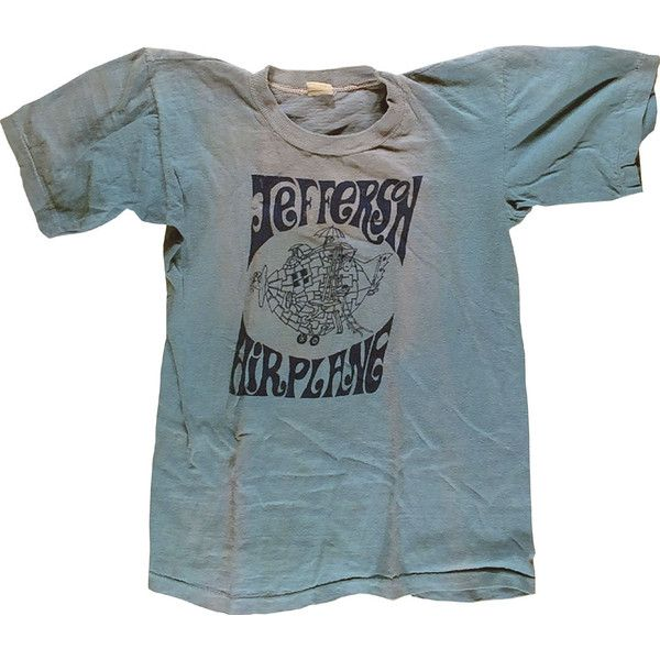 Jefferson Airplane Women's Vintage T-Shirt (118.260 CLP) ❤ liked on Polyvore featuring tops, t-shirts, vintage tees, vintage rock tees, vintage tops, blue t shirt and rock t shirts
