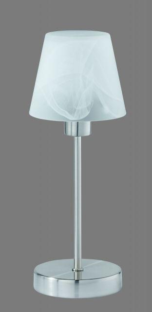 5955 - TRIO - dotyková lampa - matný nikel - biely alabaster
