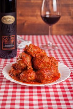 Authentic Italian Meatballs The Best I Ever Made Soaked In a Succulent Tomato Sauce...