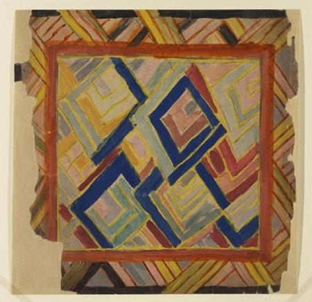 Rug design by Duncan Grant