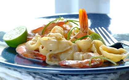 Creamy Prawn, Garlic & Lime Pasta recipe