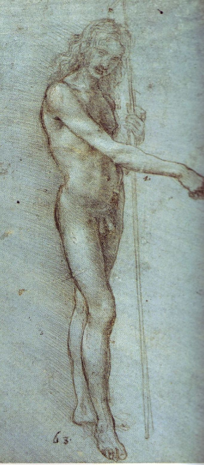 dessin leonard de vinci manwithstaff 28 56 dessins de Leonard De Vinci