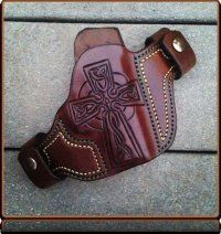 'Celtic Cross' Custom Leather Holster by Soteria Leather
