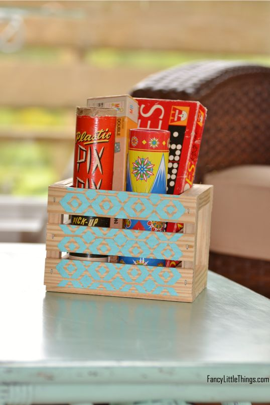 Painted Wooden Crates