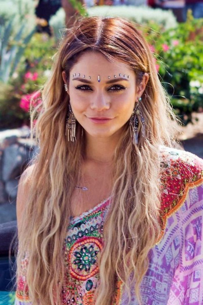 vanessa hudgens coachella make up