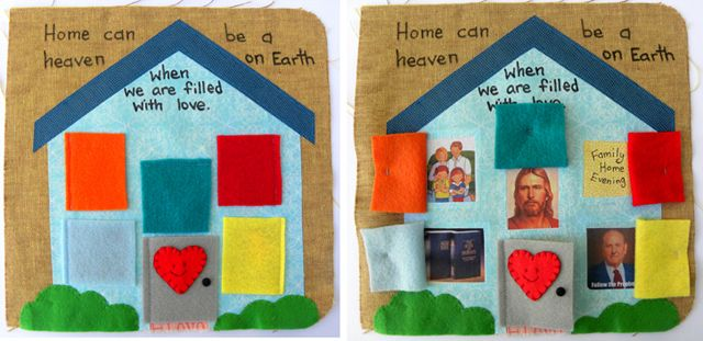 """""""Home can be a heaven on Earth""""  quiet book page"""