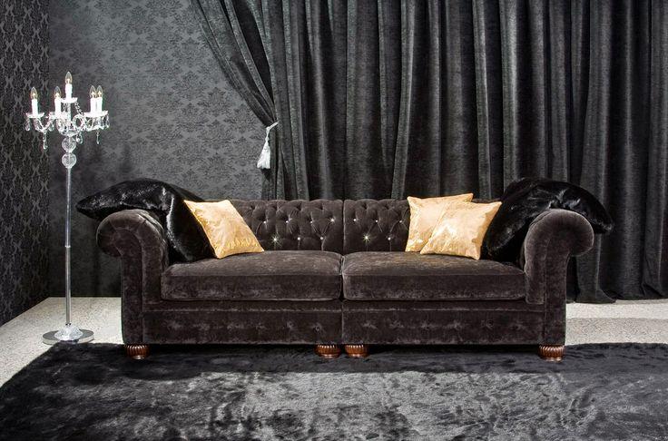 Posso ancora far vedere la bellezza di un Chesterfield!  Ecco una rassegna di divani Chesterfield in Velluto - Velvet Chiesterfield Sofa    ...