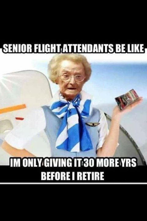 Oh senior mamma flight attendants