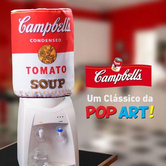 Capa+para+galão+de+água+20L+A+lata+de+sopa+Campbells+é+um+verdadeiro+símbolo+da+pop+art.+Afinal,+foi+reproduzida+em+uma+obra+de+arte+do+famoso+Andy+Warhol+em+1962.+Uma+capa+de+galão+Campbells+vai+dar+um+ar+moderno,+simpático+e+pop+ao+seu+ambiente. R$ 32,00
