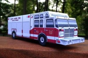 Paper Model, Fire Engine 2710