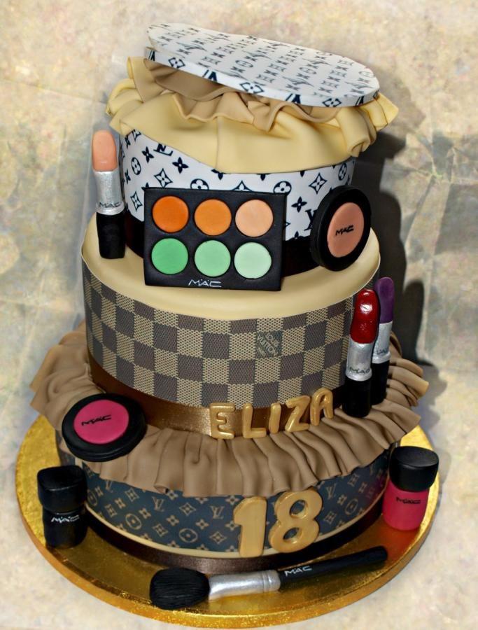 Louis Vuitton and Mac makeup theme cake | Fabulous and Fun ...