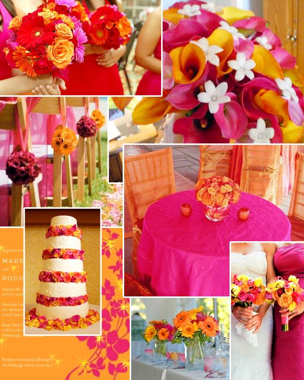 Magenta Orange Yellow Wedding Re In 2018 Pinterest Colors And Color Schemes