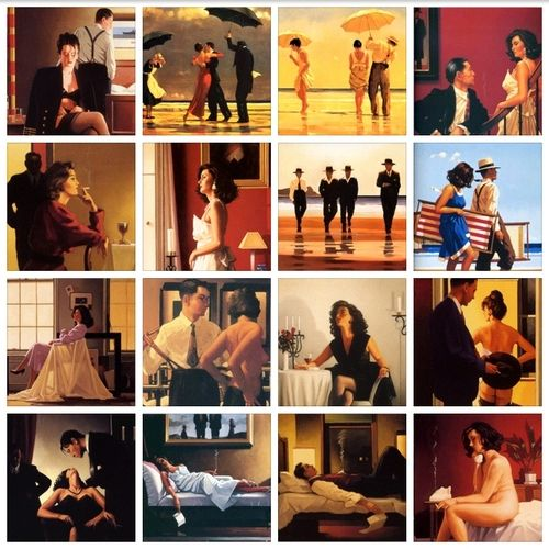 This is a collection of some of our favorite works of art by Jack Vettriano.