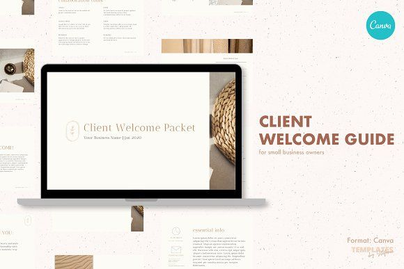 Client Welcome Packet Template Welcome Packet Brand Board Template Templates Welcome packet template free