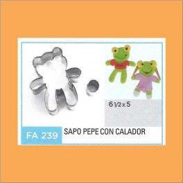 Categoría: Cortantes Metalicos Galletas - Producto: Cortante Metal Sapo Pepe - Fa239 - Envase: Unidad - Presentación: X Unid. - Marca: Flogus