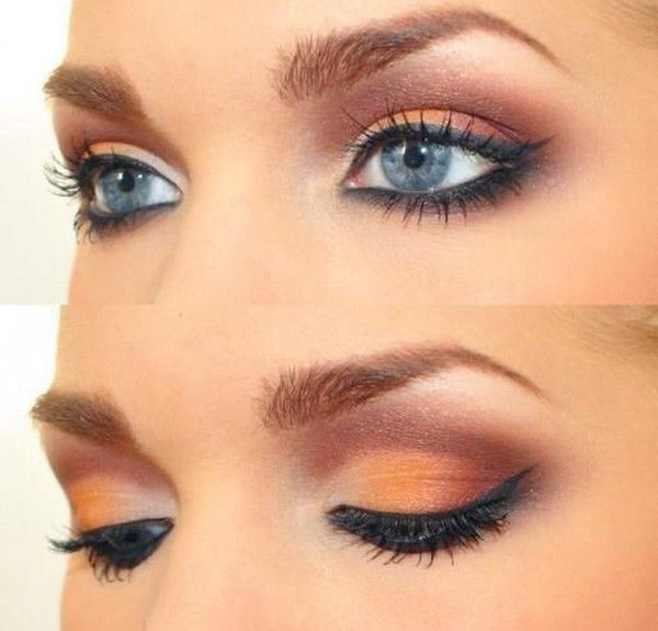 20 Gorgeous Makeup Ideas for Blue Eyes --- For red dress?