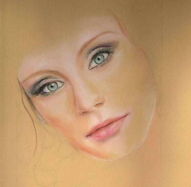 Pastel pencil portrait