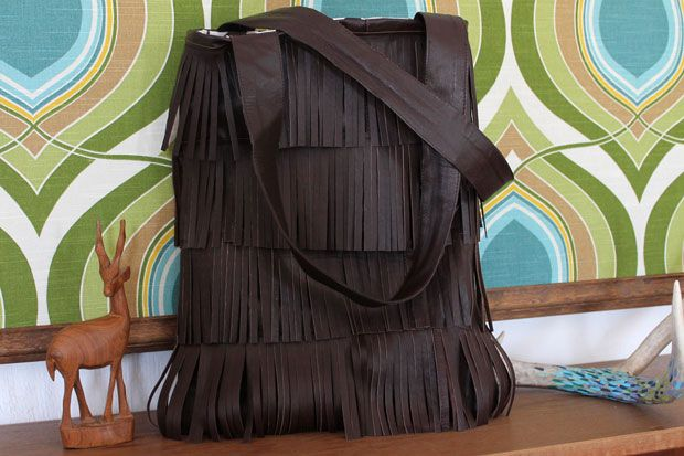 Make Your Own Leather Fringe Bag | eHow Crafts